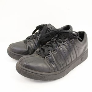 K-SWISS classic black leather tennis shoes